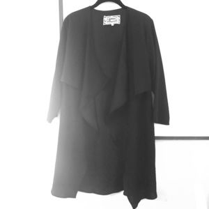 Worn Once Pink Martini Black Cover Up Jacket Flowy